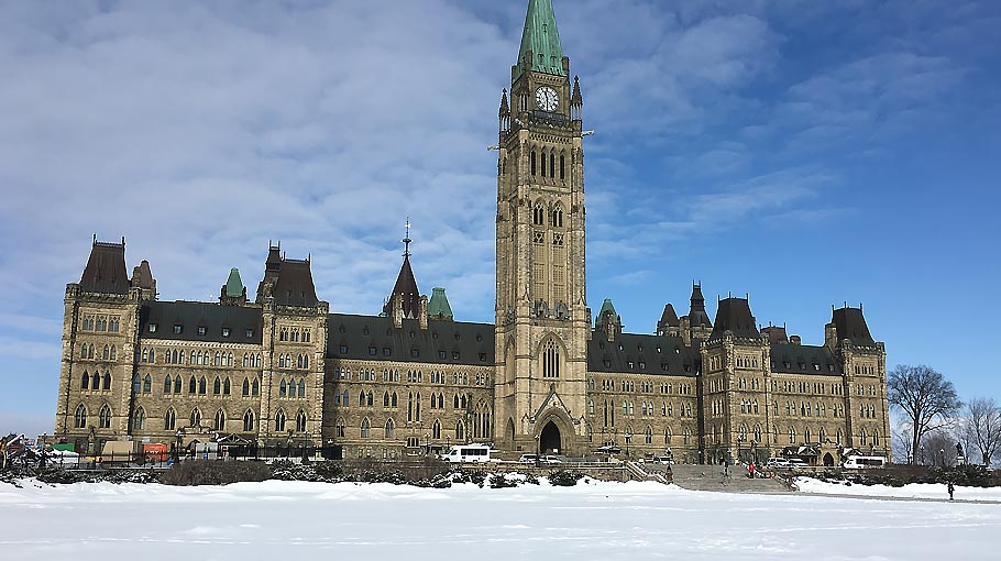 An image of the Parliament of Canada Buildings, Ottawa, Ontario where Forecast Technology presented their portfolio of DNA tracers to the Canadian government.