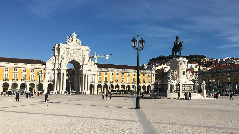A photo of Praça do Comércio, Lisbon, Portugal where Forecast Technology met with CleanSeaNet