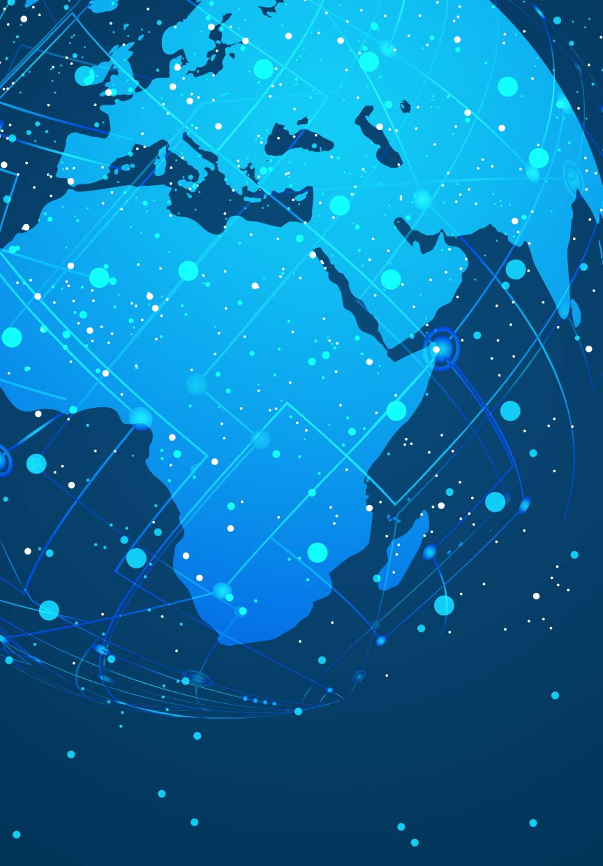 A colour image of the global in blue hues used for the Lloyds Environment Award Forecast Technology finalist